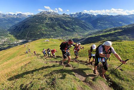 Course trail aux Arcs