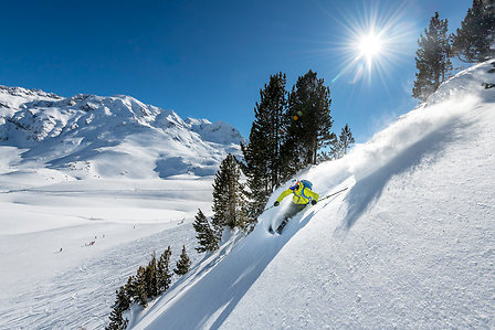 Ski freeride aux Arcs